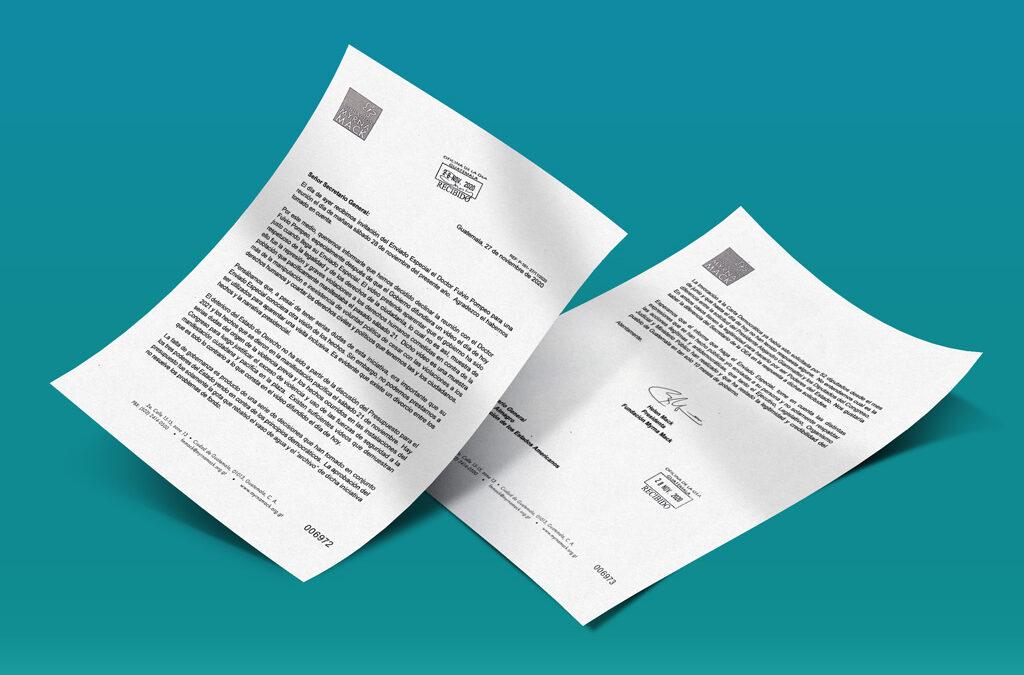 Carta a Almagro: Sin voluntad política, no hay condiciones para una salida democrática
