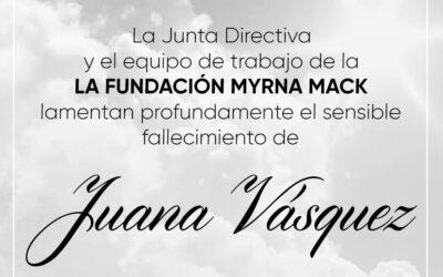 Esquela Juana Vásquez