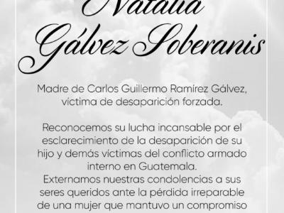 Esquela Natalia Galvez Soberanis
