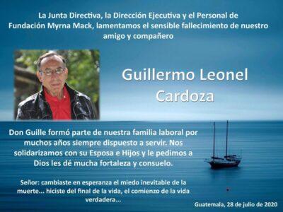 Condolencias a familiares de Cardoza
